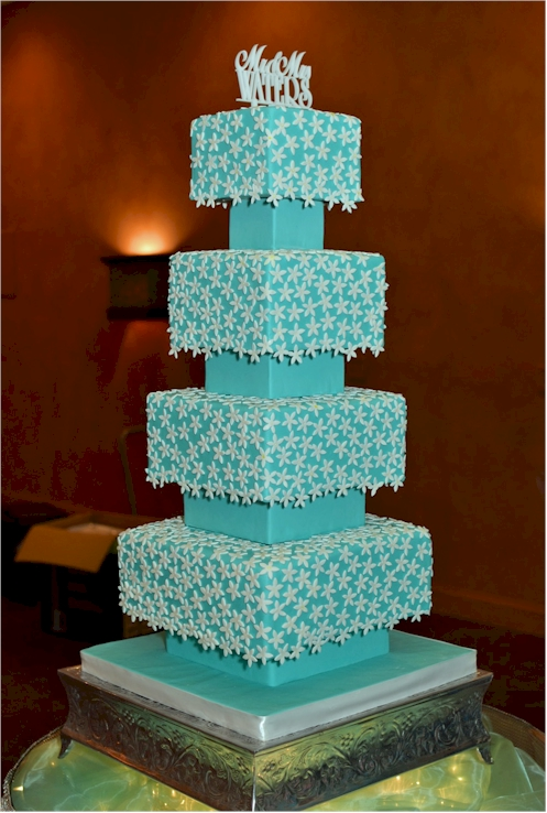 Cup A Dee Cakes Blog Tiffany Blue Wedding Cake