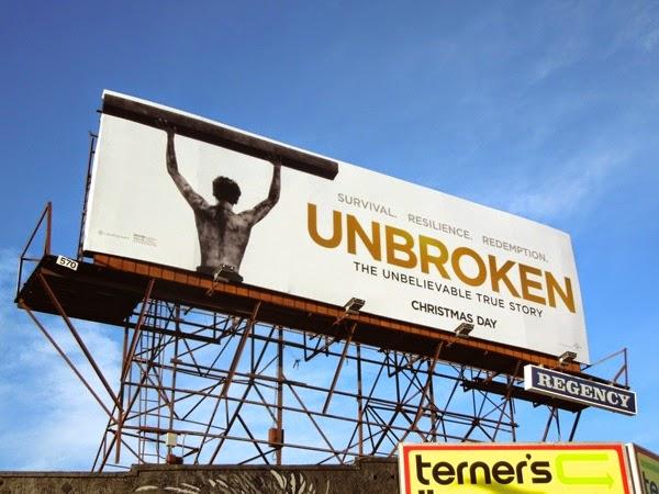 Unbroken movie billboard