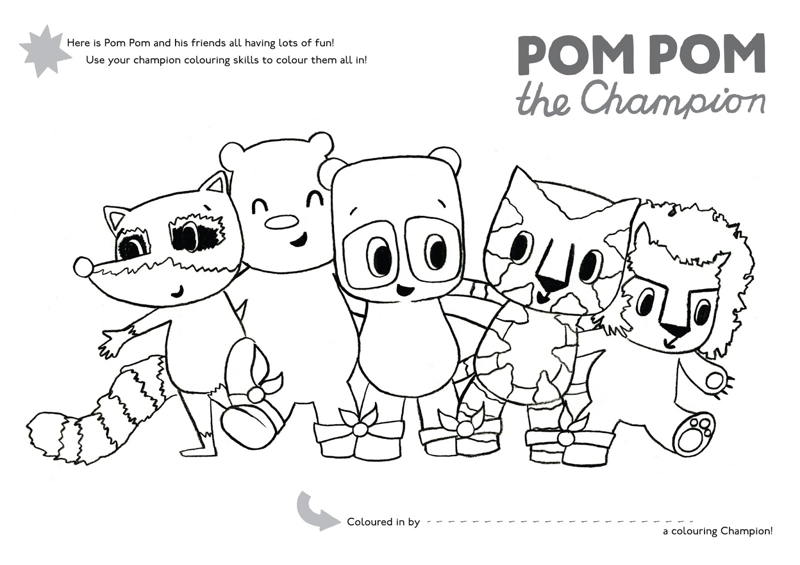 pom pom the champion by sophy henn picture puffin