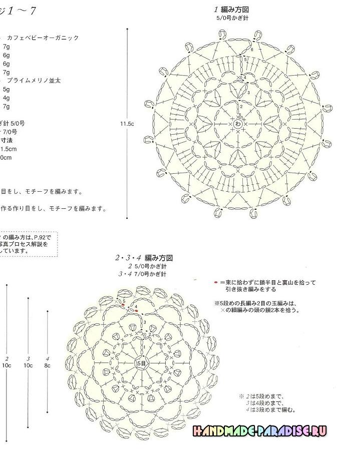 Японский журнал со схемами вязания крючком (3)