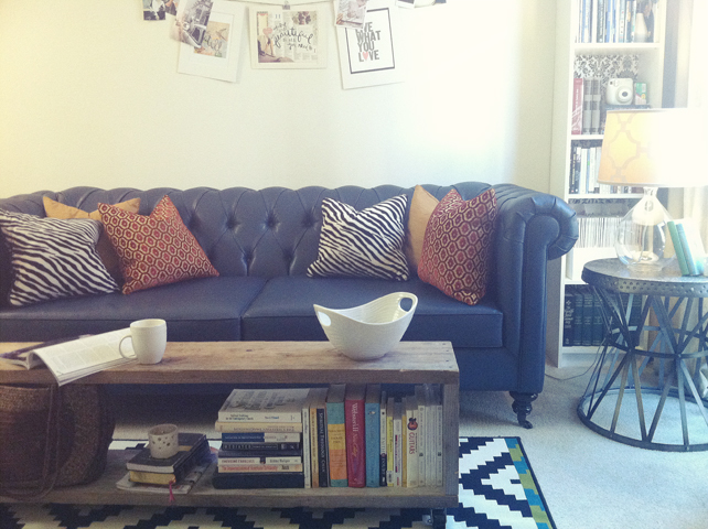 Living Room Makeover - Teal Sofa