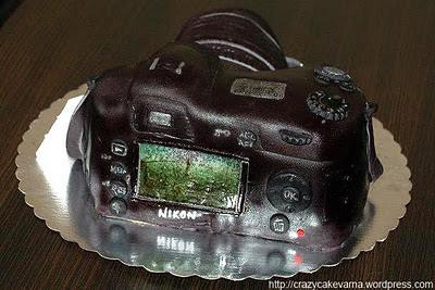 торта фотоапарат никон