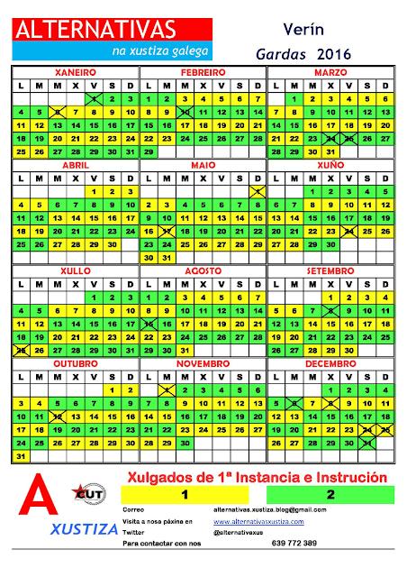 Verín. Calendario gardas 2016