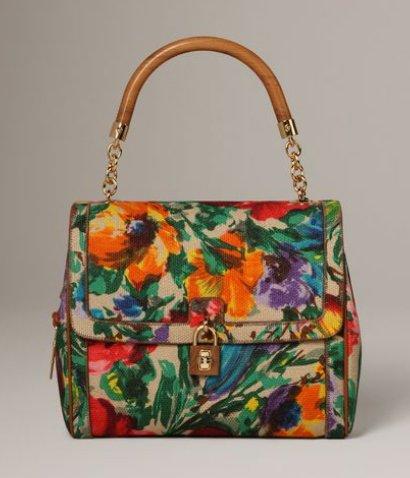 Dolce & Gabbana flower bag, Dolce & Gabbana Dolce flower print bag, borsa a fiori Dolce & Gabbana