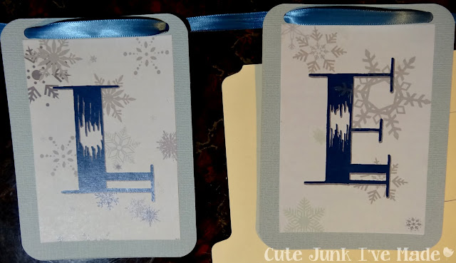 Let It Snow Banner - Ribbon and Letters Strung Together