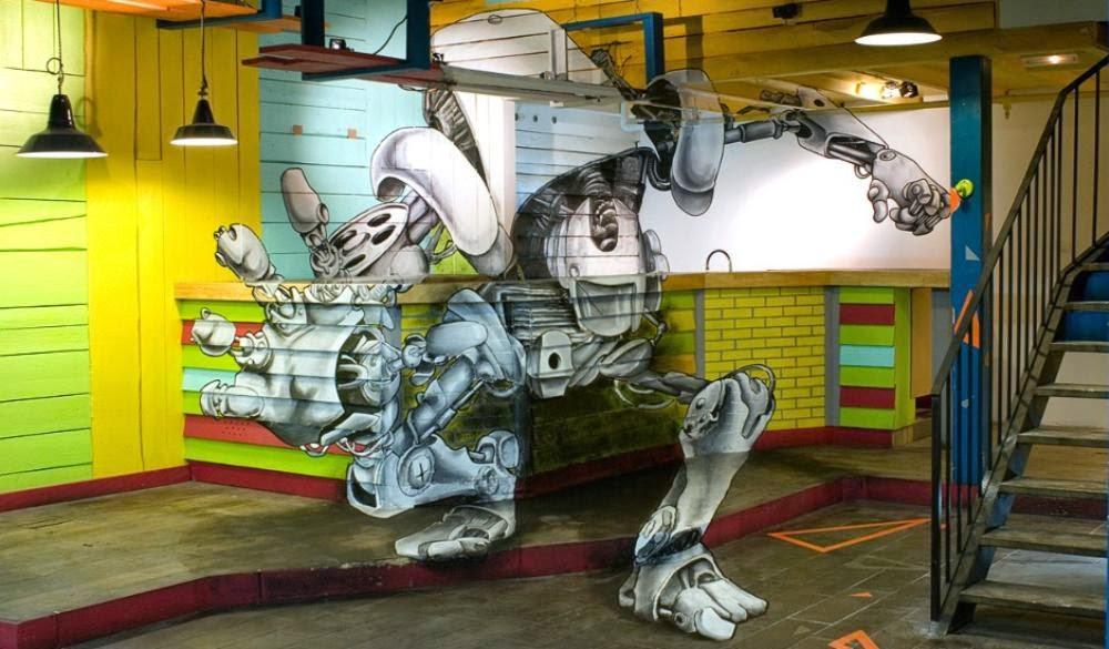 Tranh 3D đẹp nghệ thuật đánh lừa thị giác người xem