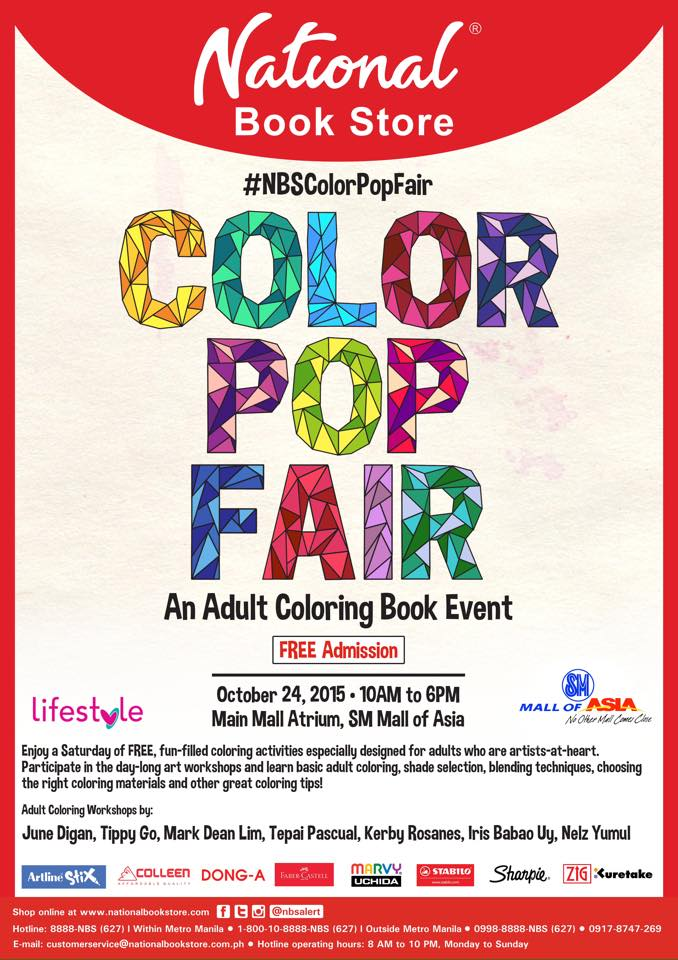 Book whales color pop fair an adult coloring event by Coloring book for adults national bookstore price