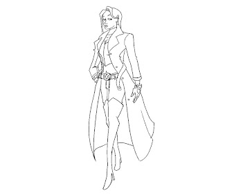 #1 Emma Frost Coloring Page