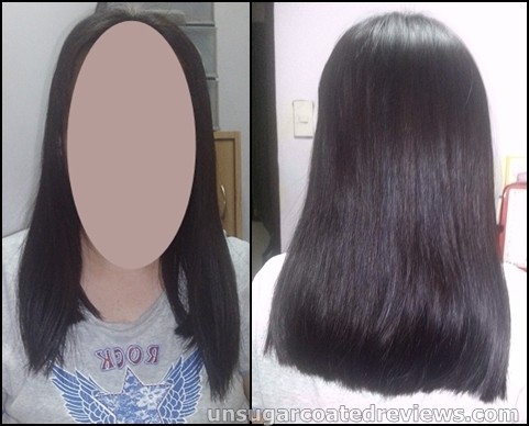 one month after my milk rebond, detox treatment, shine wax, and chestnut brown hair color at Orange Blush Salon