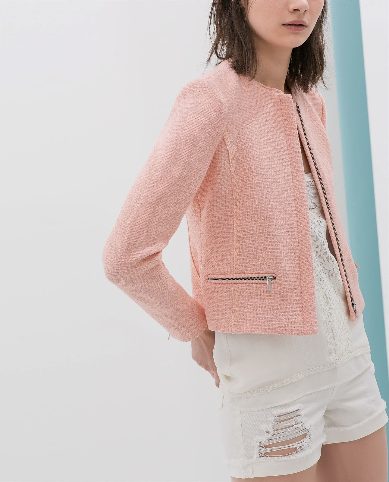 Collarless Bouclé Spring Jackets | World of Fashion according to ...