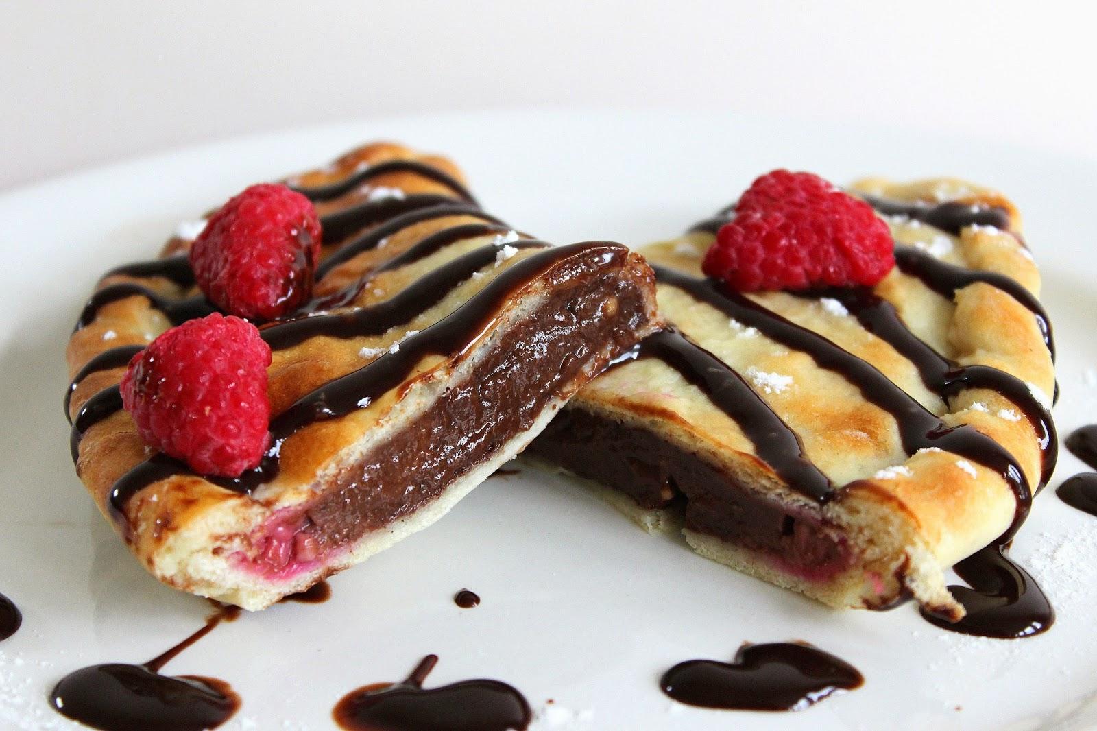 Picnic Chocolate And Raspberry Calzones
