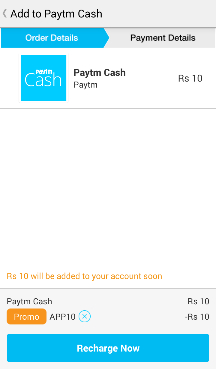 Paytm APP10 free Rs 10 wallet cash