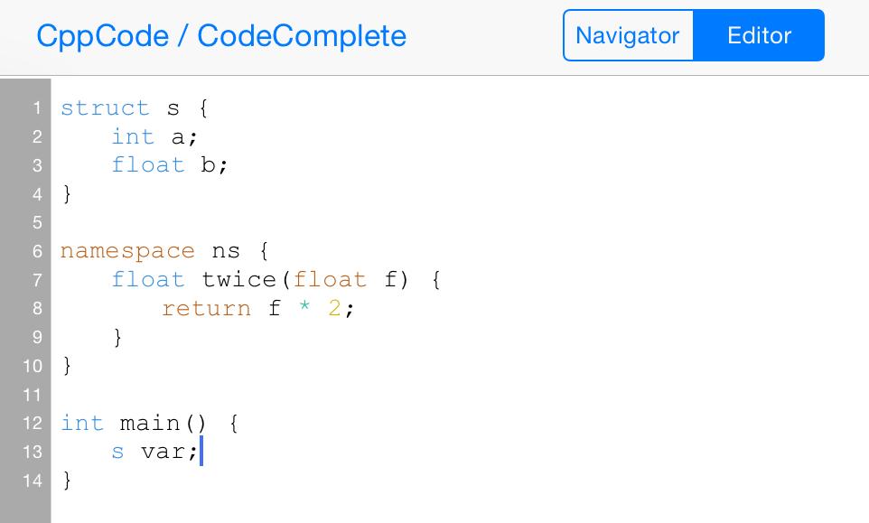 online c++ editor