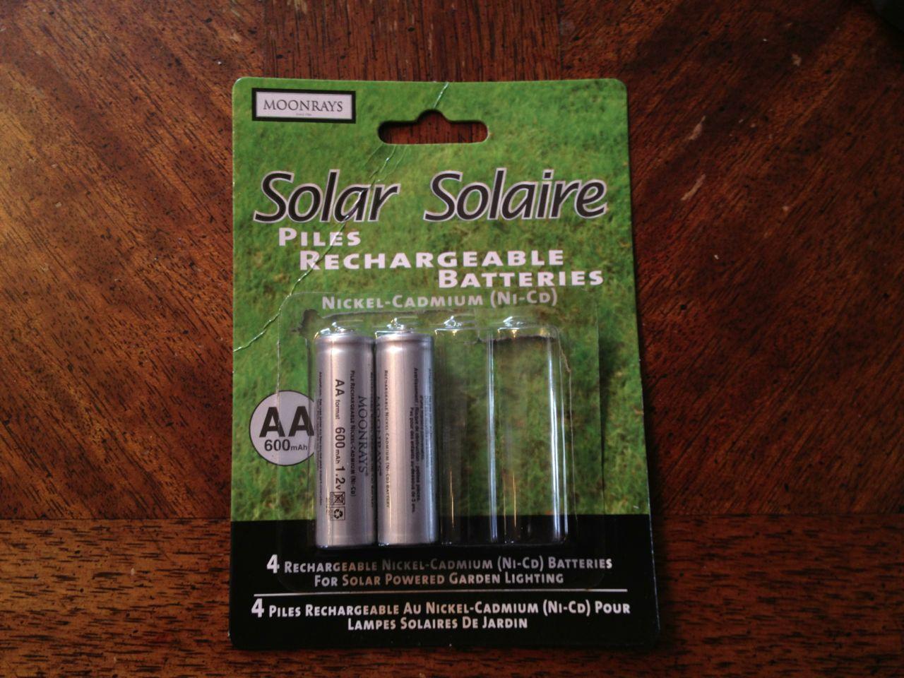 pile solaire rechargable