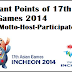 17th ASIAN Games 2014 Winner-Host-Motto-Event-Participating Countries