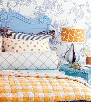 Beautiful staged homes some easy diy headboards to make for Painting a headboard