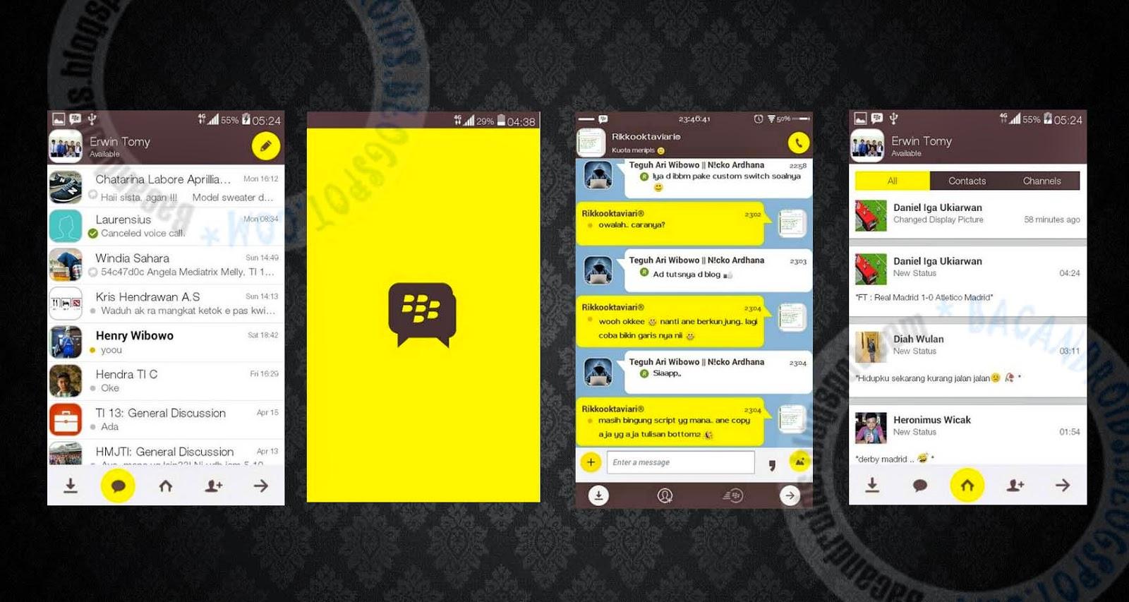download BBM Mod Tema Kakaotalk Messenger 2.7.0.23 Apk