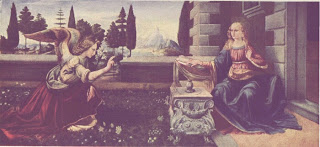 Leonardo da Vinci's Painting - Annunciation In the Uffizi Gallery