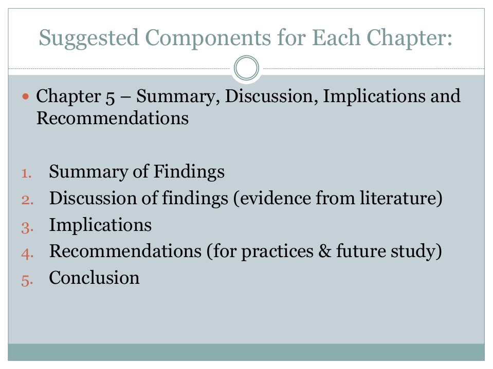 purpose of discussion chapter in dissertation Essentially the discussion chapter tells your reader what your findings might mean, how valuable they are and why i remember struggling with this section myself well, the best way to start in my view is just to write, but perhaps start to write without the specific purpose of the discussion chapter in mind.
