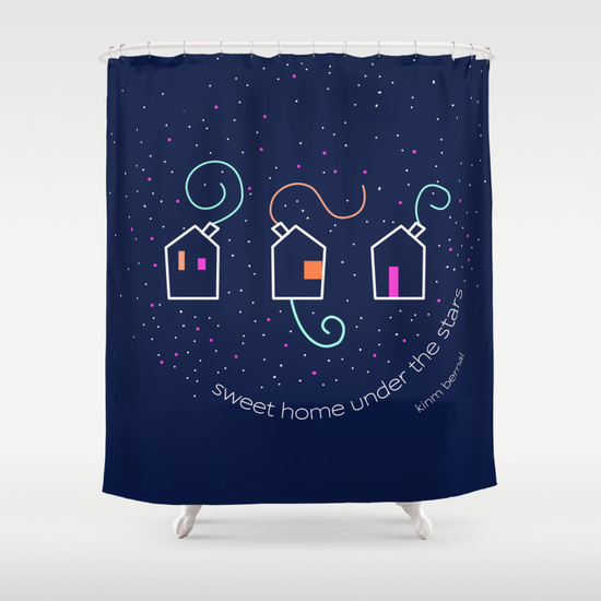 "Kinm Bernal cortinas de ducha ""Sweet home under the stars"""