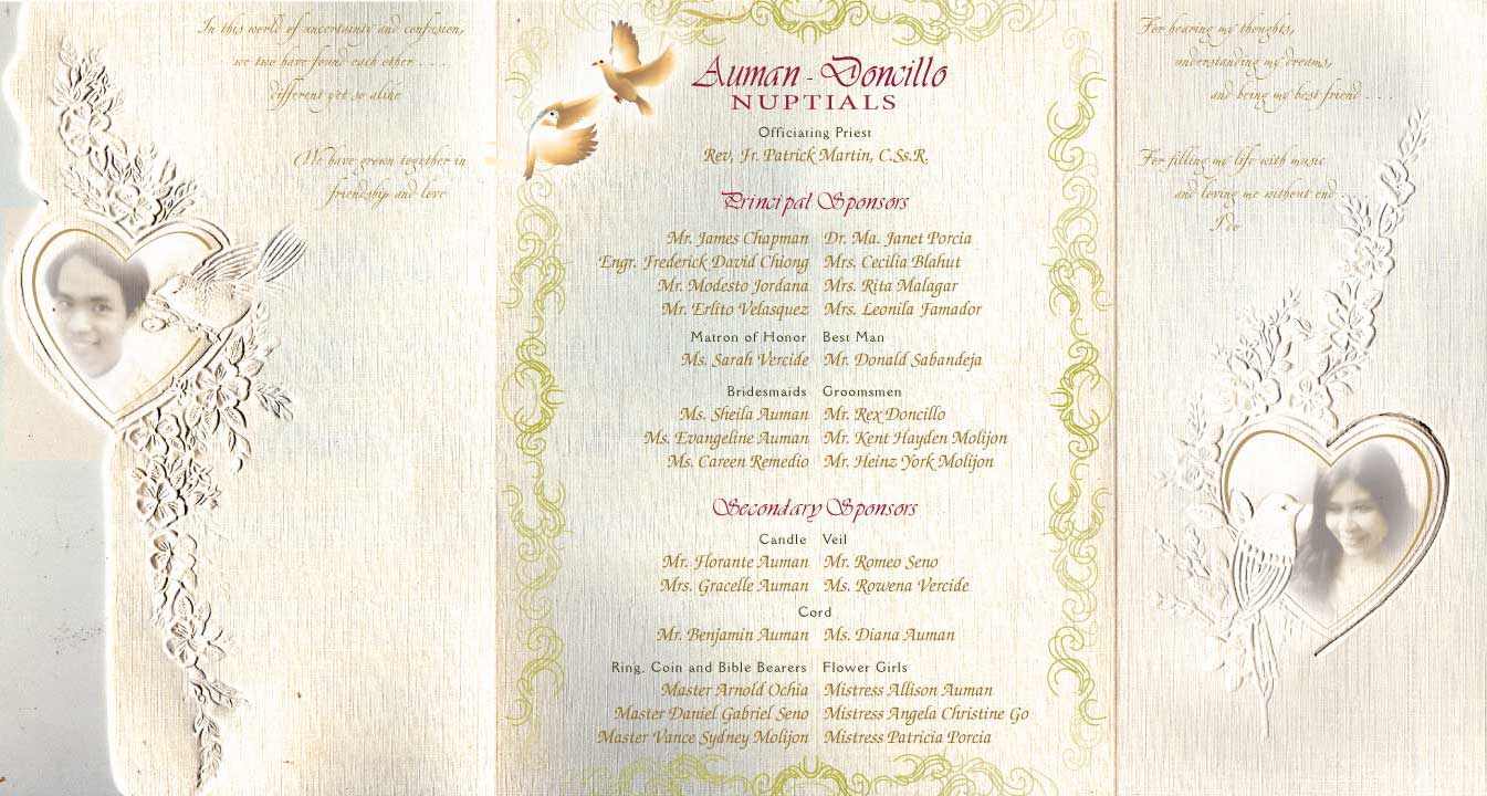 vintage destination wedding gowns wedding ceremony program