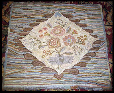 KK - Sheep - Paper pattern for Primitive Hooked Rug by Karen Kahle
