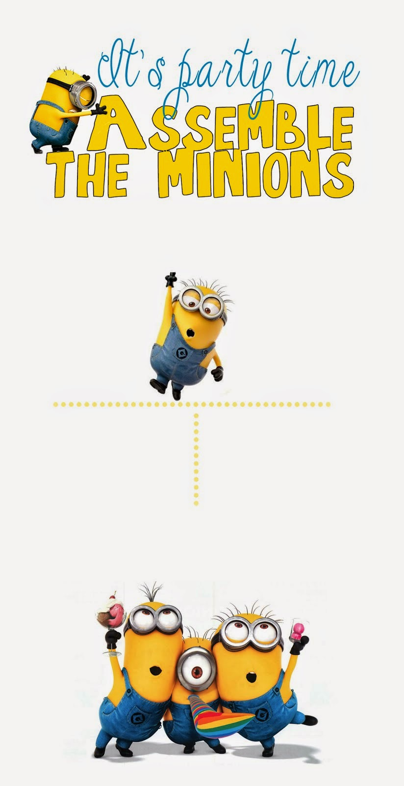 Divine image throughout free printable minion invitations