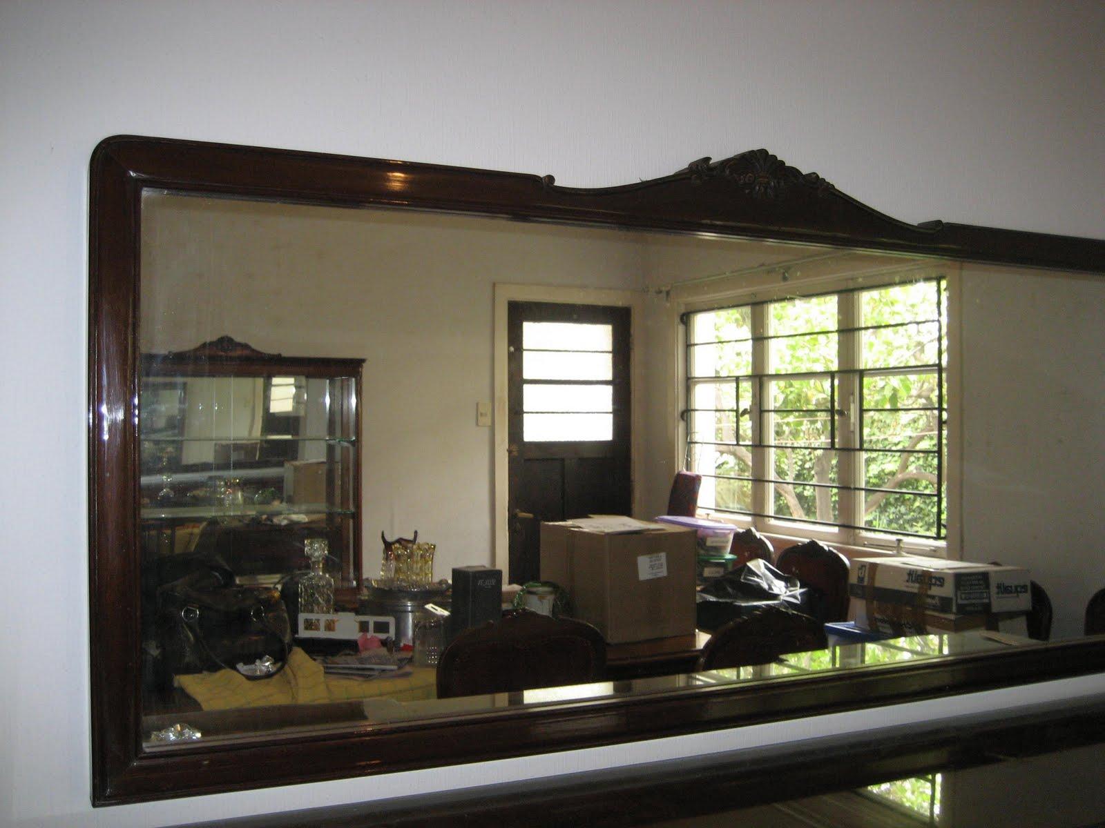 Monica julio espejo alargado grande con marco madera for Espejos grandes con marco