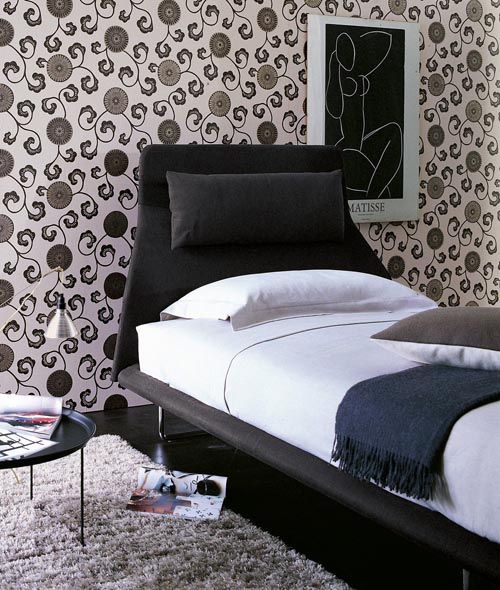 Pink leaf villa contemporary beds design from boconcept for Single bed furniture design
