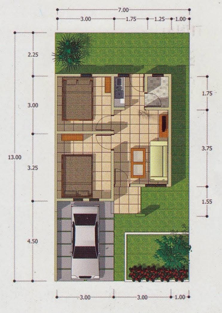 Denah Rumah Indah Type 36