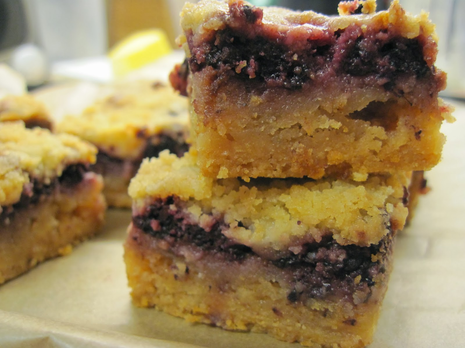 Blackberry Pie Bars Recipe — Dishmaps