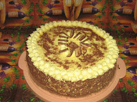 Torta sa bananama i pecenim korama