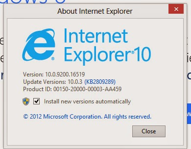 Downgrade IE version