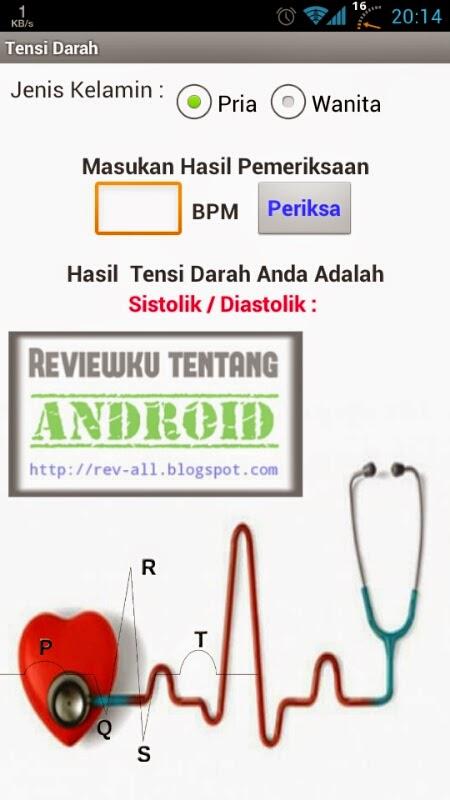 Tampilan utama aplikasi TENSI DARAH DIGITAL - ketahui tensi darah dari jumlah denyut nadi permenit di android (rev-all.blogspot.com)