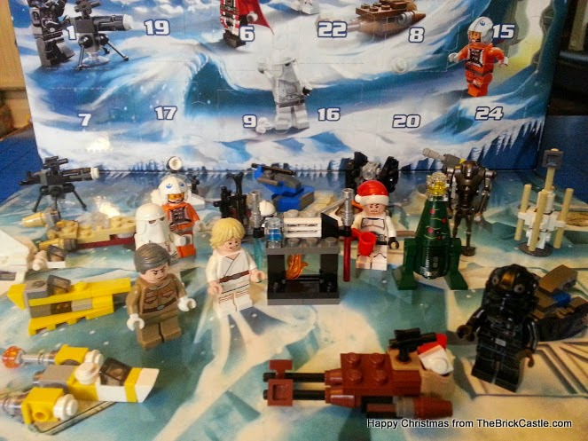 The LEGO Star Wars Advent Calendar Day 23 lightsabre stand and fireplace