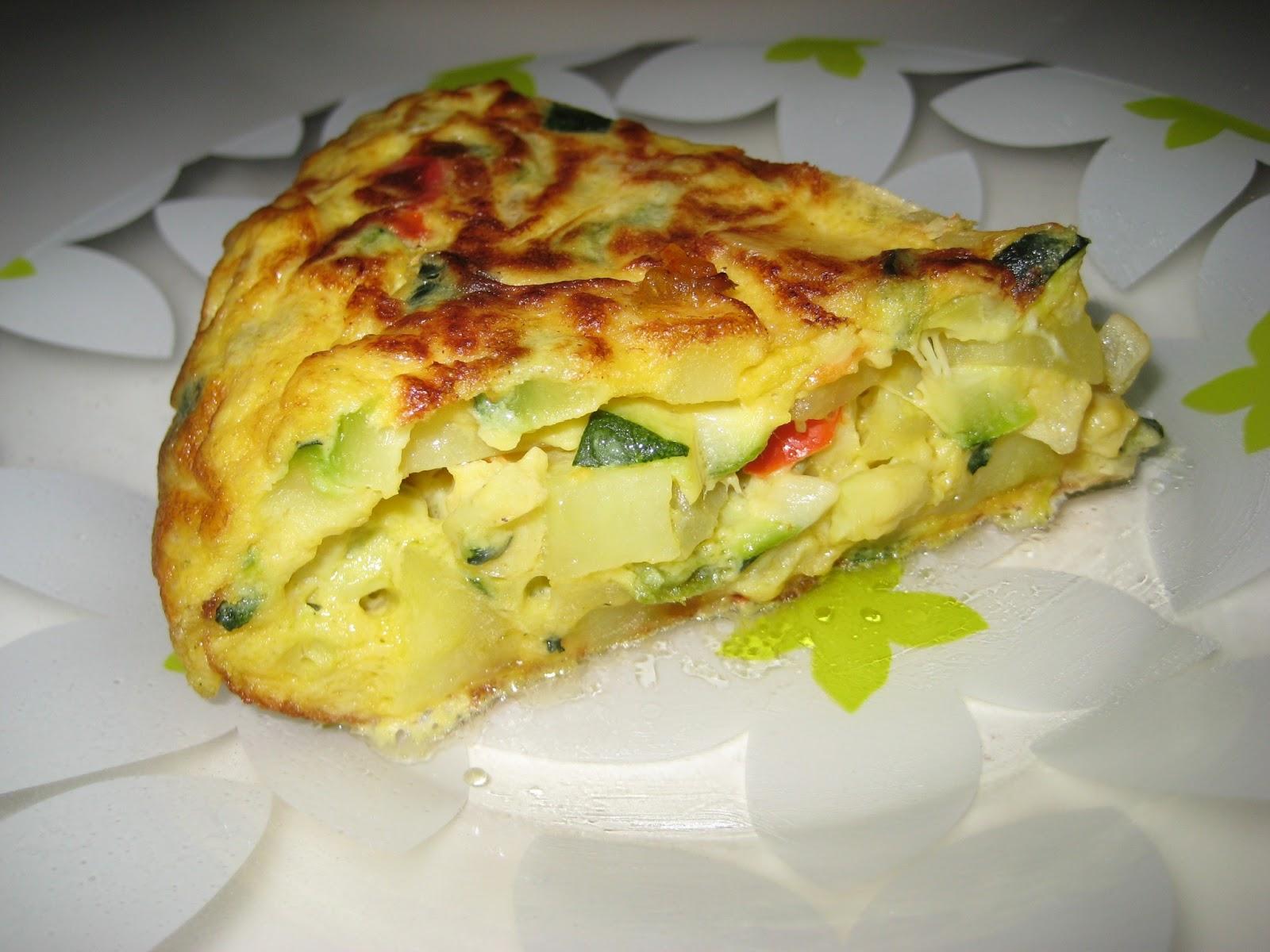 Un ngel en mi cocina tortilla de calabac n patata - Tortilla de calabacin y cebolla ...