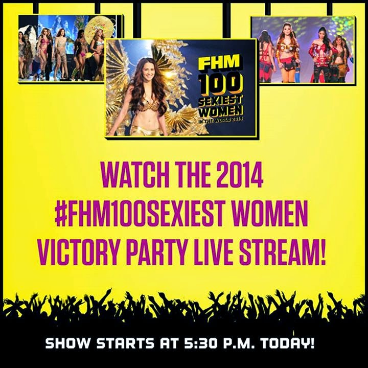 Looking for FHM100Sexiest 2014 tickets? No worries let's do livestream