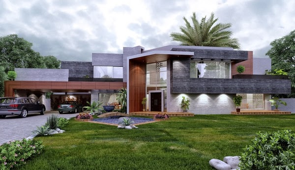 Modern home garden design home newest exclusive home for Small modern house garden design