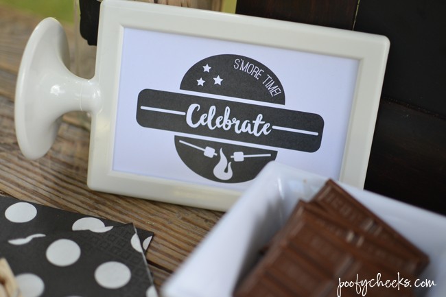 Birthday S'Mores Bar - #LetsMakeSmores