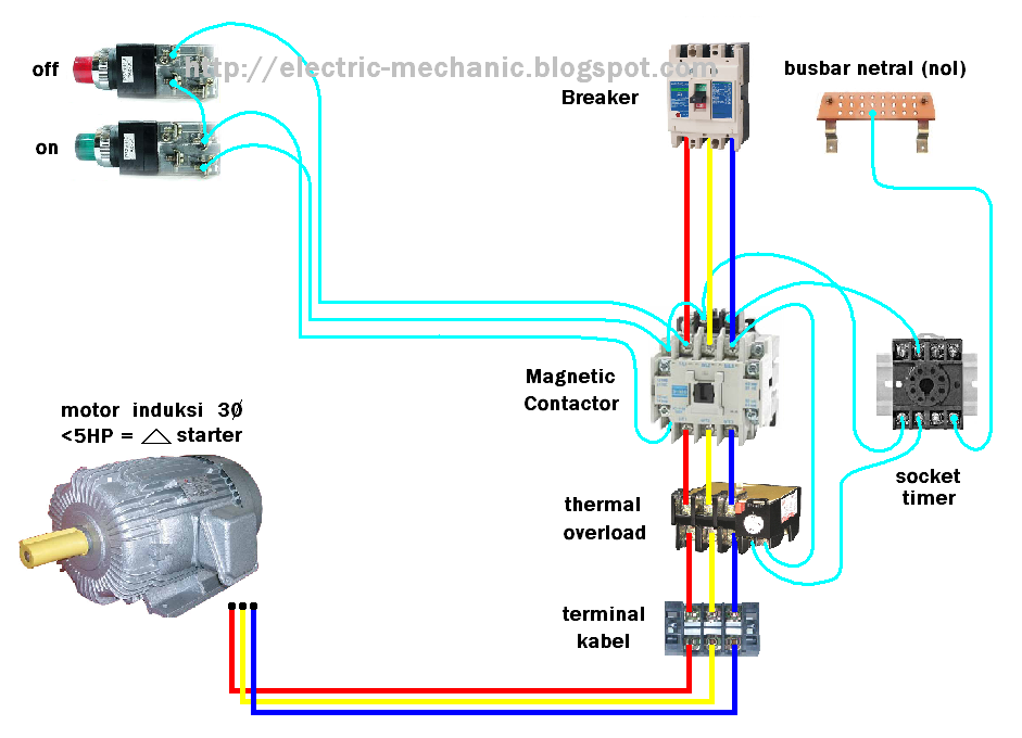 wiring diagram of star delta starter with timer dol starter with timer #1