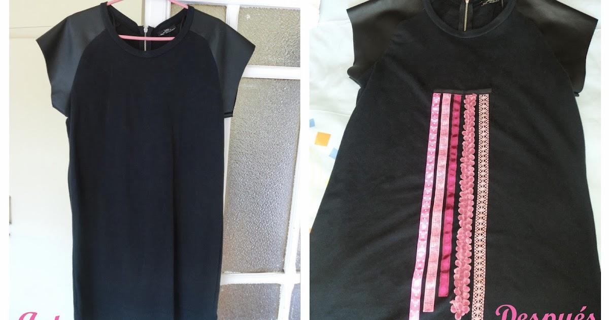 Lamarita diy decorar vestido liso con lazos for Decorar con lazos