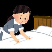 ベッドメイキングのイラスト