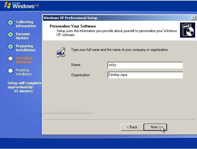 Cara instal Ulang Windows XP