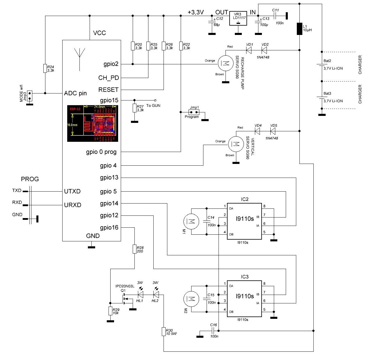 схема цветомузыки на светодиодах 6ти канальной