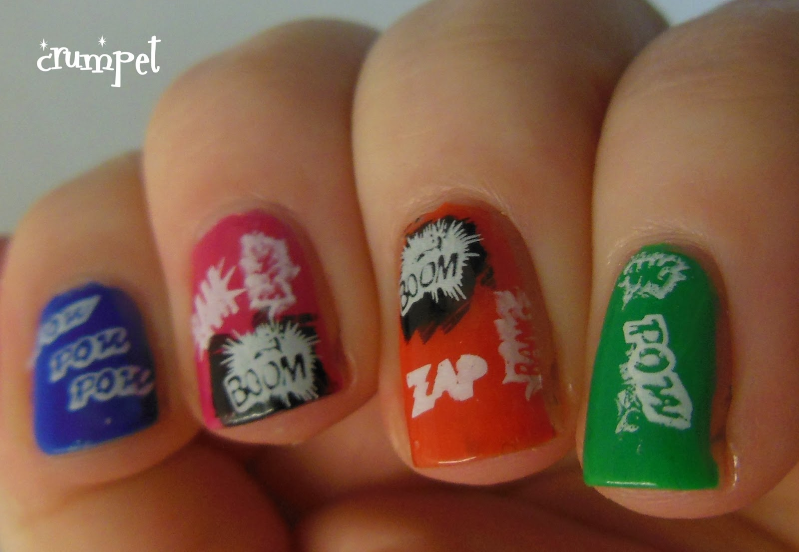 Nail Art Comic Book The Best Inspiration For Design And Color Of