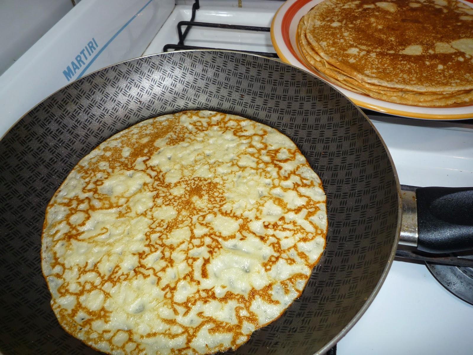 receta para preparar la masa de panqueques