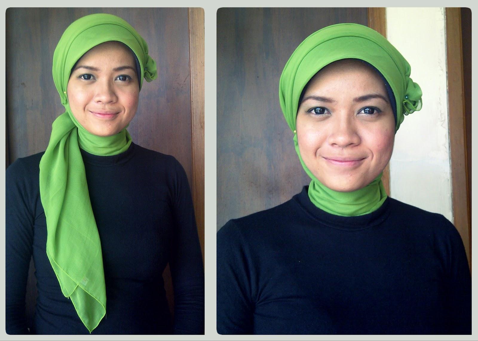 Tutorial Hijab Dengan Ciput Topi