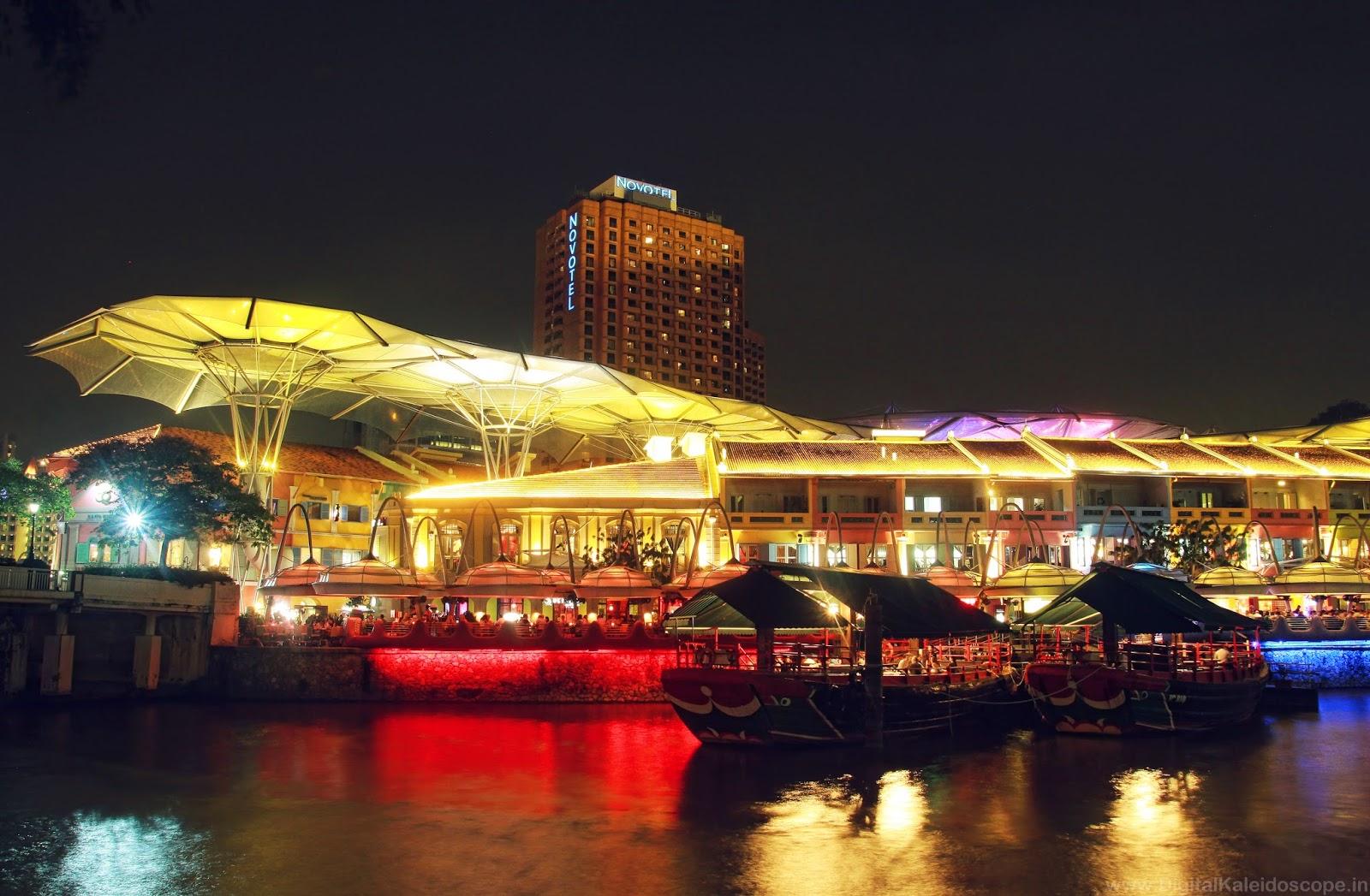 Clarke Quay Singapore, Singapore Night Photography
