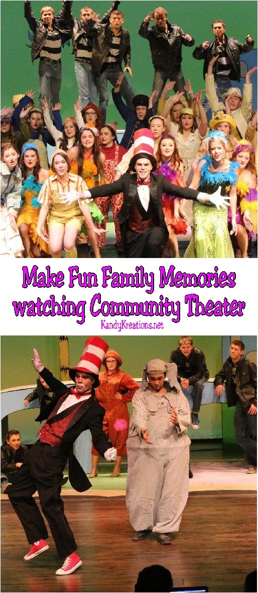 Make some fun family memories with your kids by watching community theater in your back yard! You'll find some great, inexpensive, and wonderful fun that your kids will love.