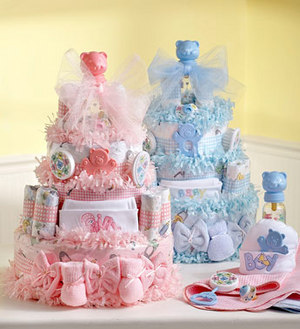Baby shower gifts when it comes to baby shower gifts anyone can make their own baby gift basket do it yourself baby gift baskets can be very fun and personal solutioingenieria Choice Image
